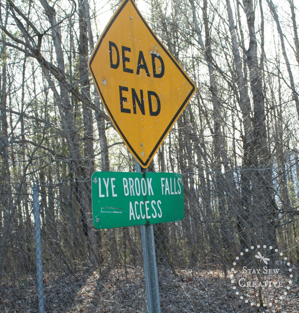 Sign at the Lye Brook Falls access road