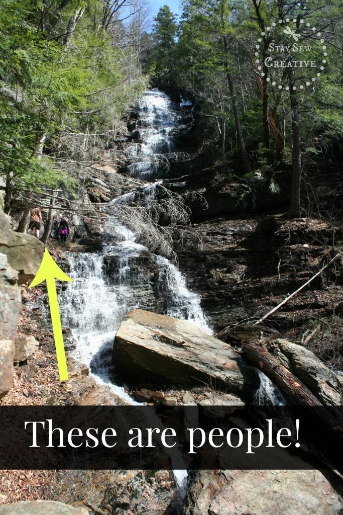Lye Brook Falls are 125 feet tall!